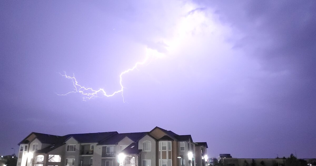 What parts of Colorado see the most lightning?