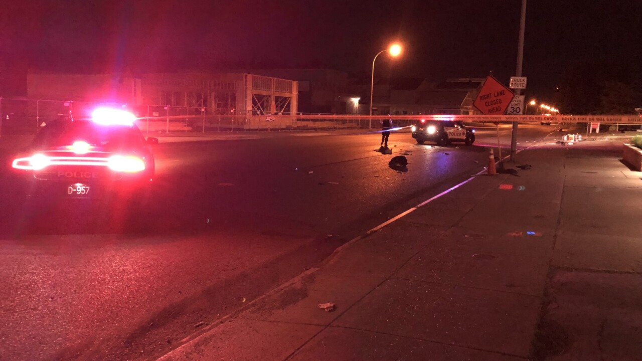 Police investigate a hit-and-run accident in North Buffalo.