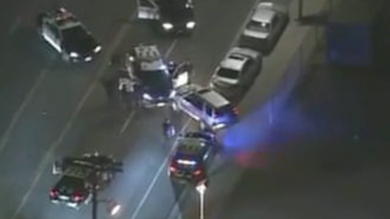 L.A. police chase ends with carjacking caught on tape