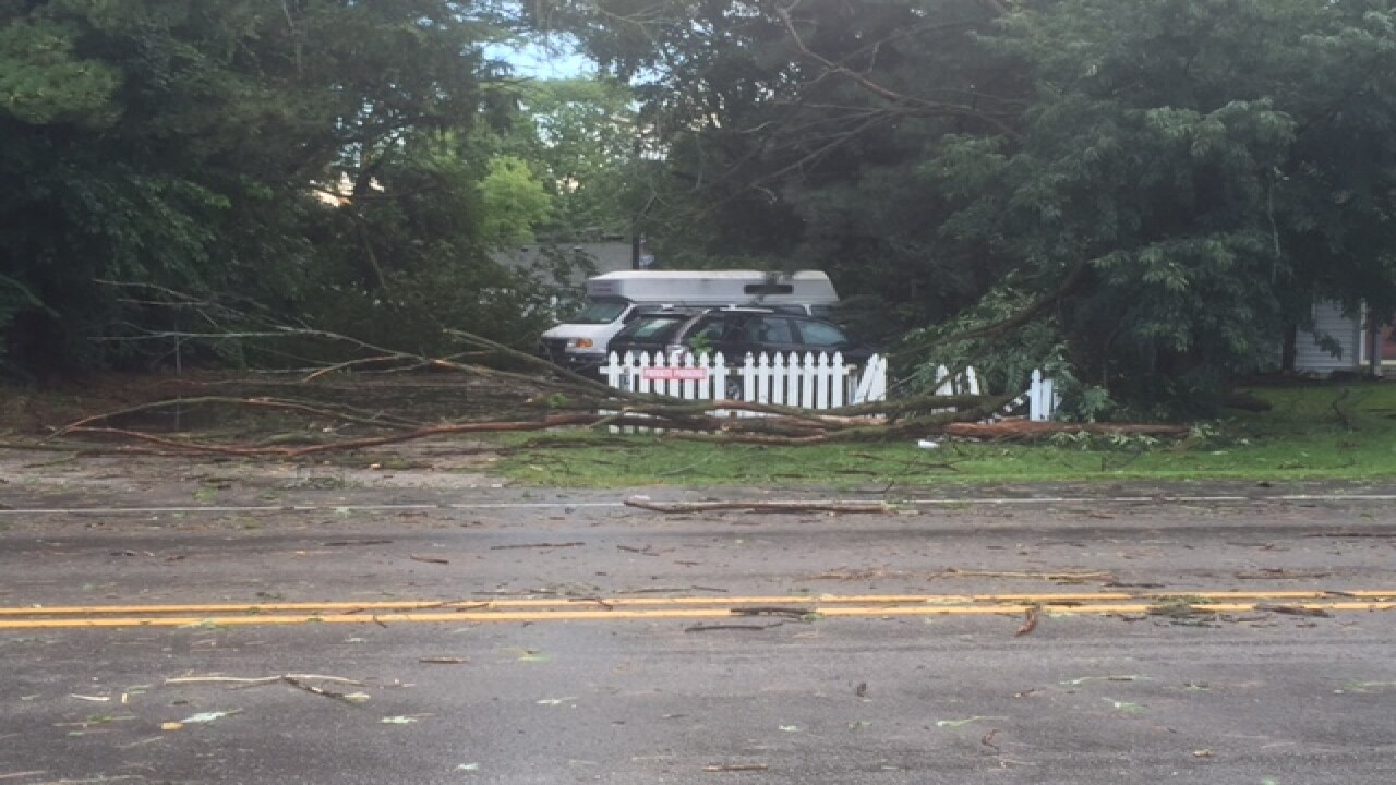 PHOTOS: Ominous clouds, downed trees, flooding