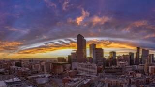 Kelvin-Helmholtz clouds over Denver