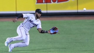 Marlins Orioles Baseball Monte Harrison