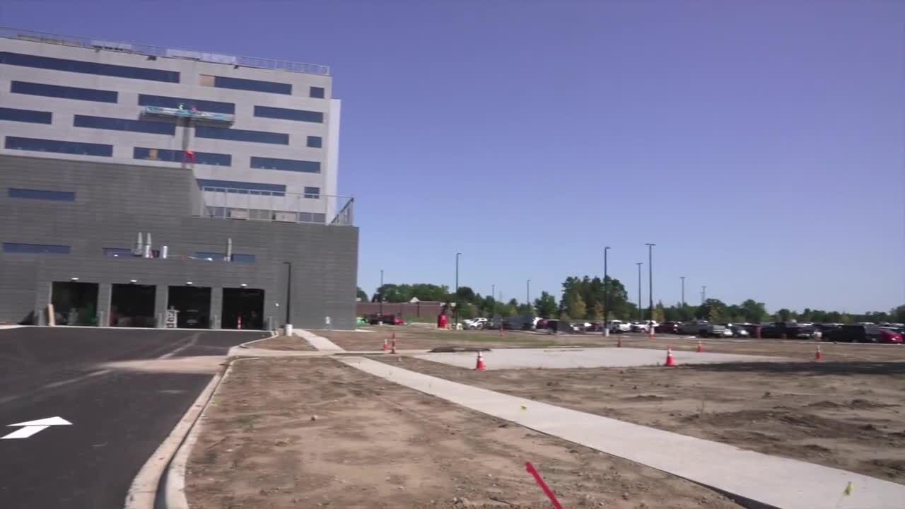 Helipad at new McLaren Greater Lansing hospital