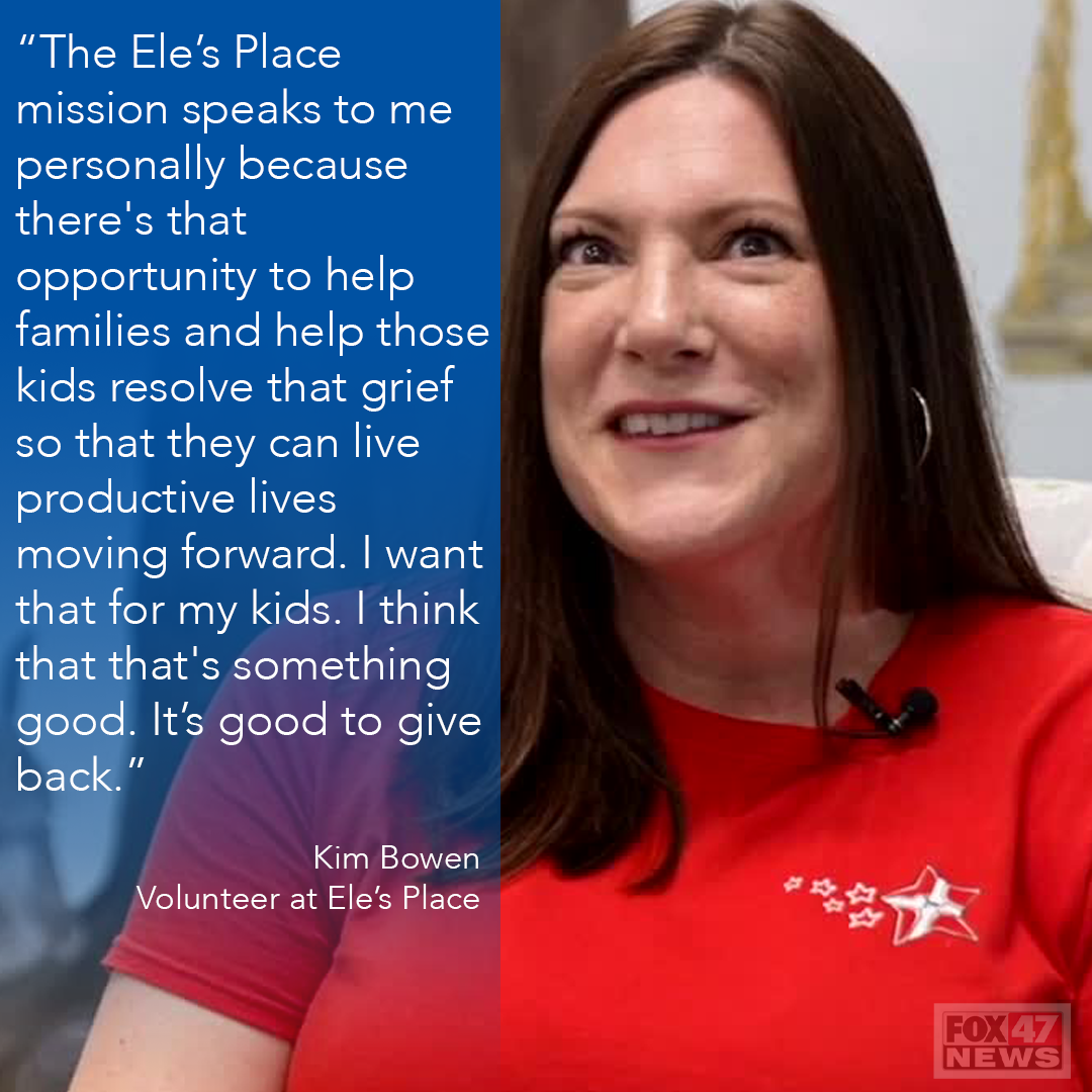 Kim Bowen is a volunteer at Ele's Place