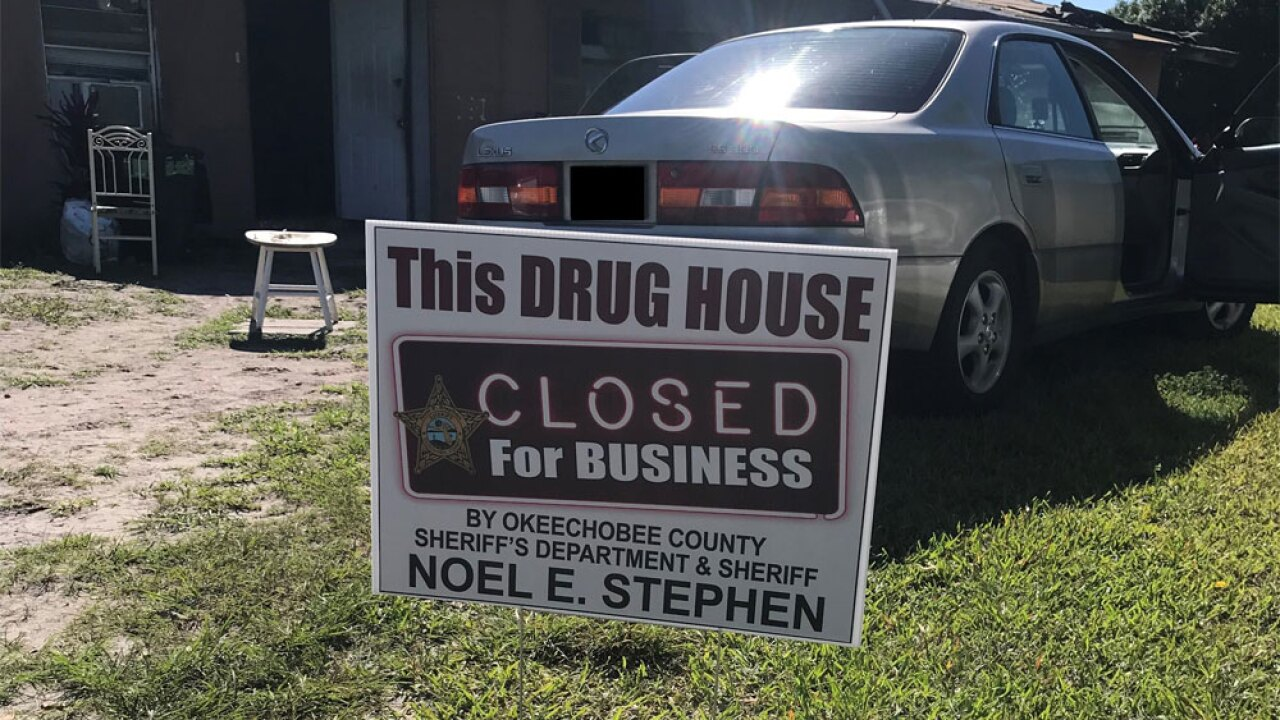 drug house closed sign