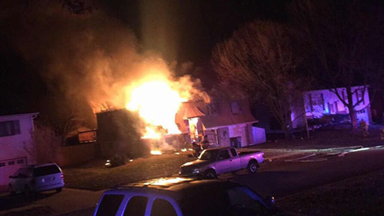 Olathe fire destroys home, displaces six people