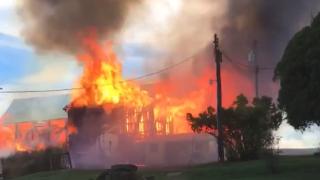 Wayne County barn Fire