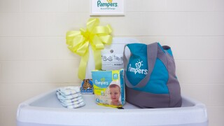 Pampers to make changing tables more accessible for dads