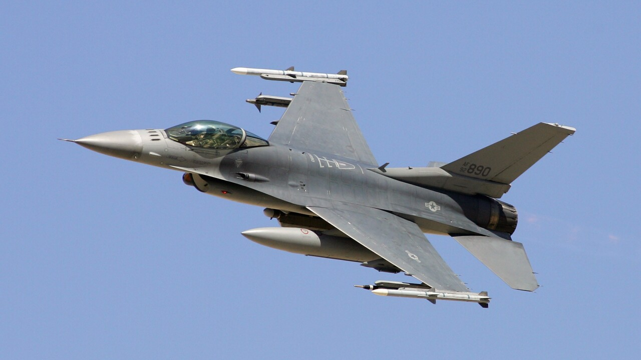 F-16 crashes into warehouse, no fatalities reported