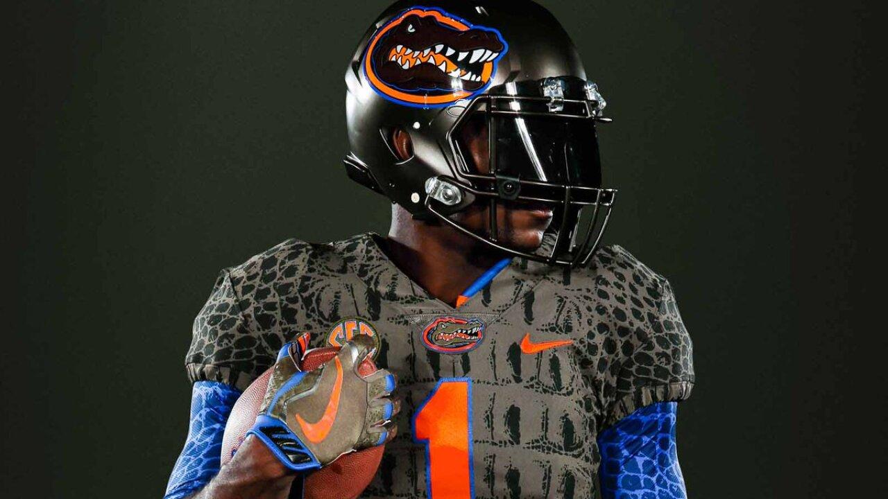 Florida Gators football team to wear gator-inspired alternate uniformsSaturday