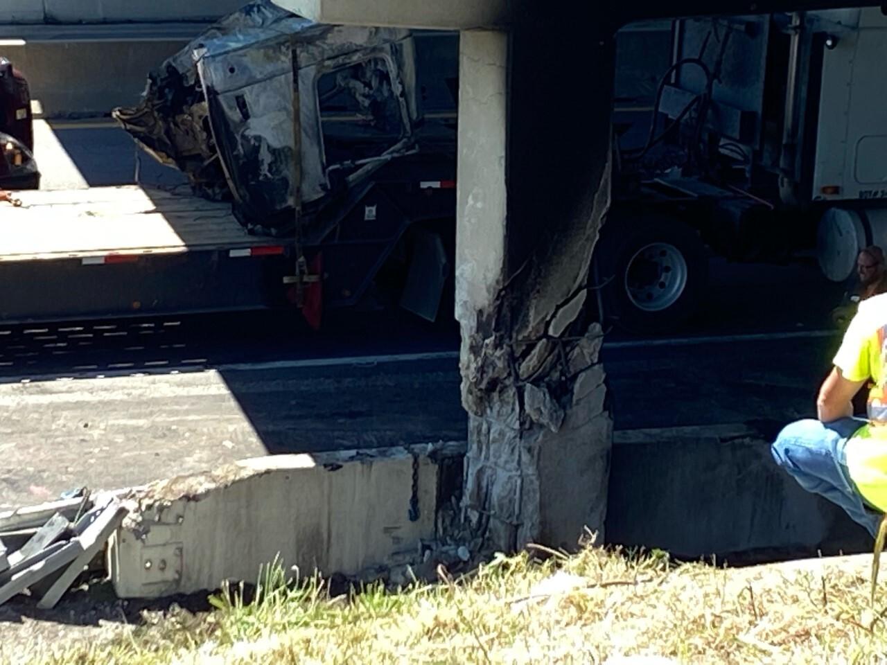 i-40 mt juliet road bridge damage