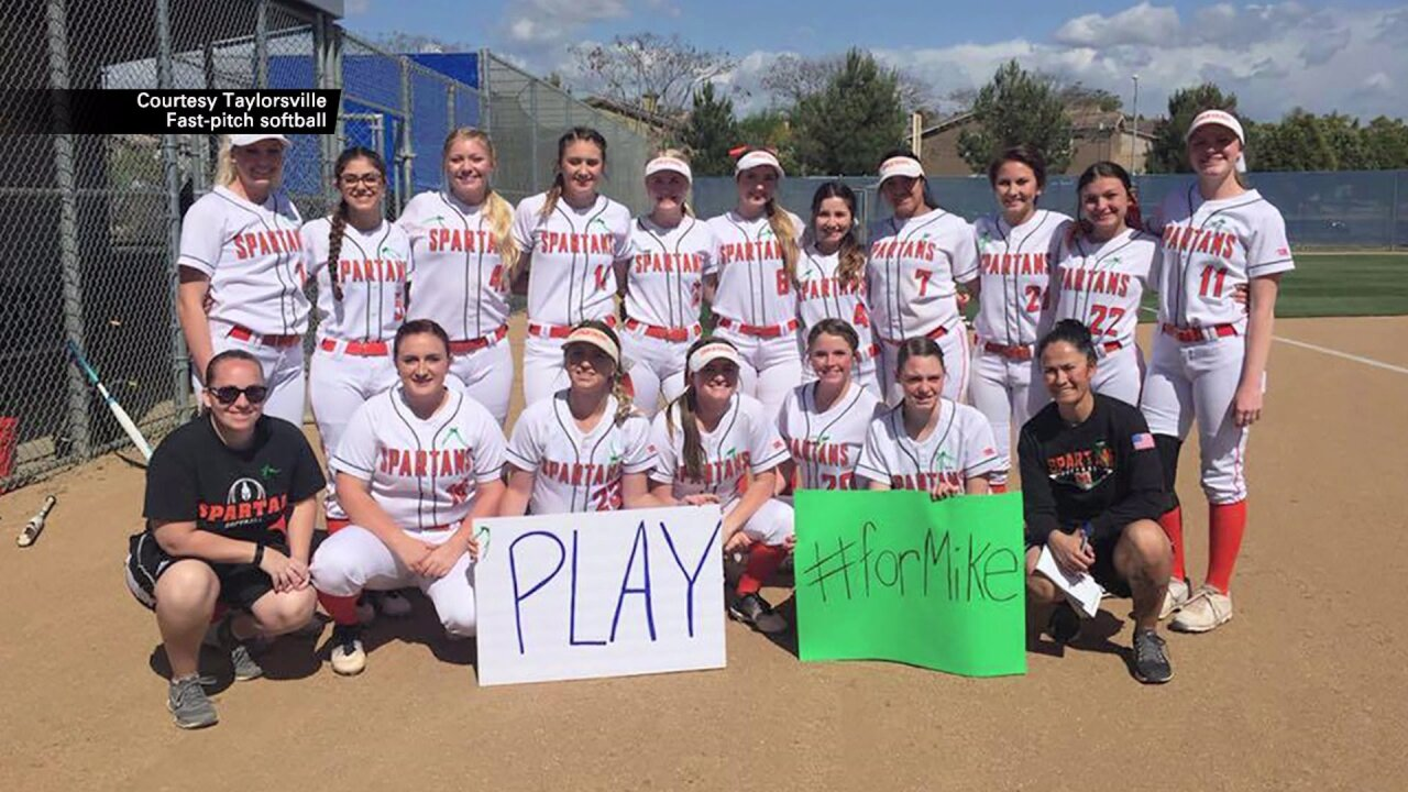 Softball community comes together to honor coach injured in car crash