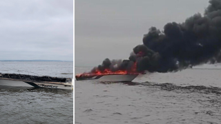Boat fire off Staten Island injures 5 people