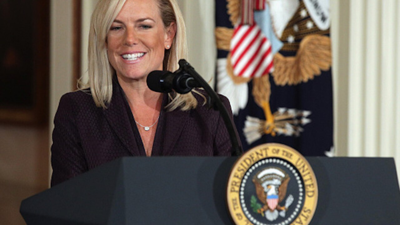 President Trump formally nominates Kirstjen Nielsen as head of Homeland Security