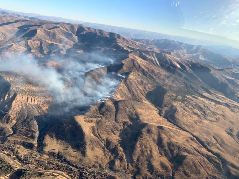 Photos: Fire burning in Diamond Fork Canyon; Utah County Search and Rescue evacuate around 50 hunters and cabinowners