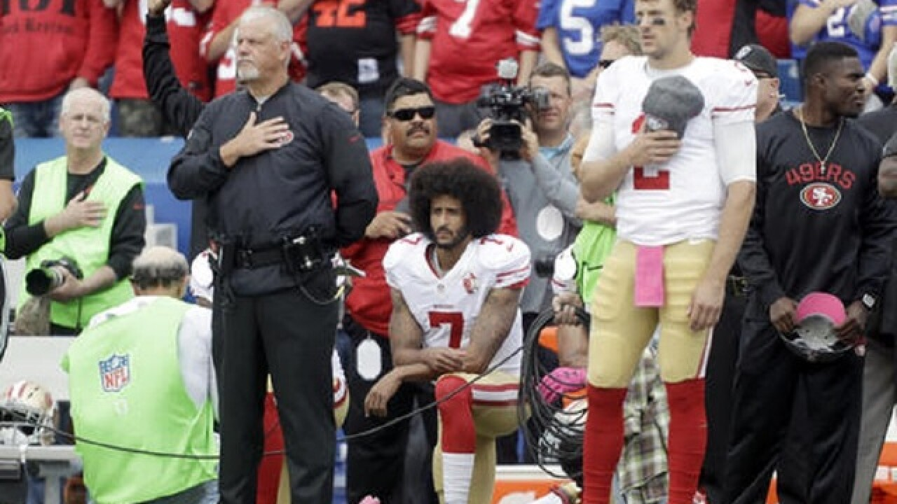 Buffalo fans target Kaepernick for national anthem protest
