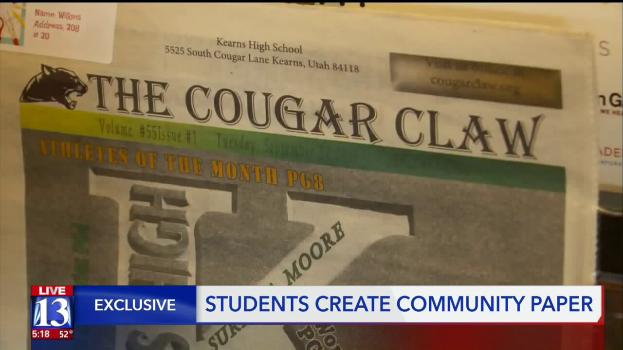 Utah town to receive community newspaper thanks to high school student journalists