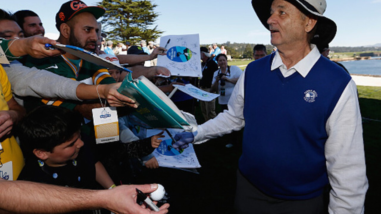Bill Murray throws fans' phones