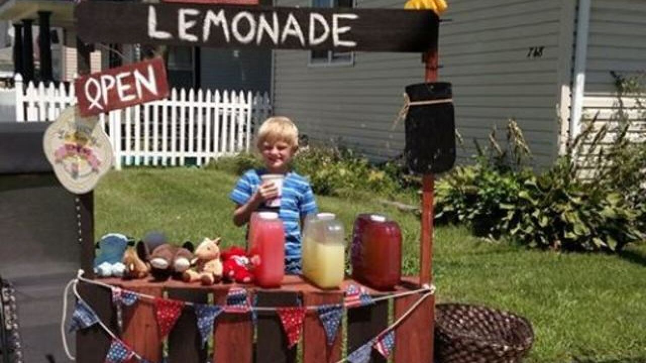 Kokomo boy sells lemonade to raise money for fallen Southport Lt. Aaron Allan's family