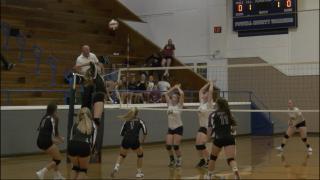 Deer Lodge v Hamilton volleyball