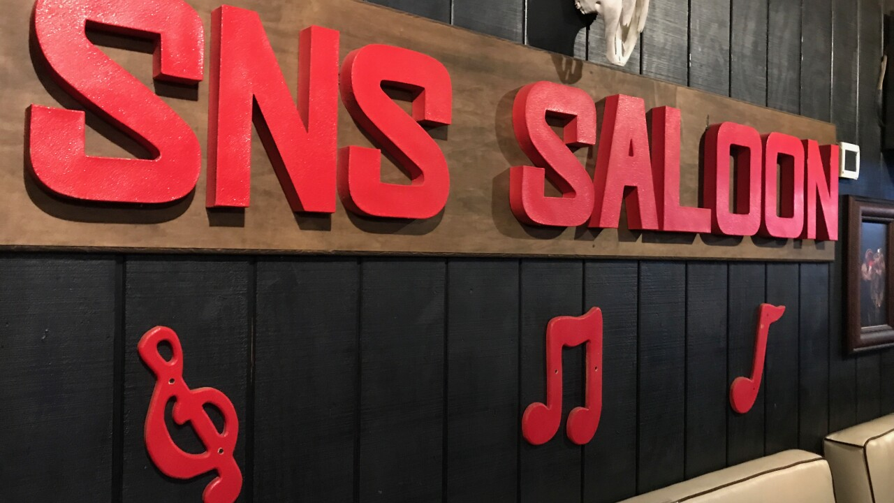 These are photos of Saddle n Spurs Saloon located in Las Vegas as seen in Sept. 2020