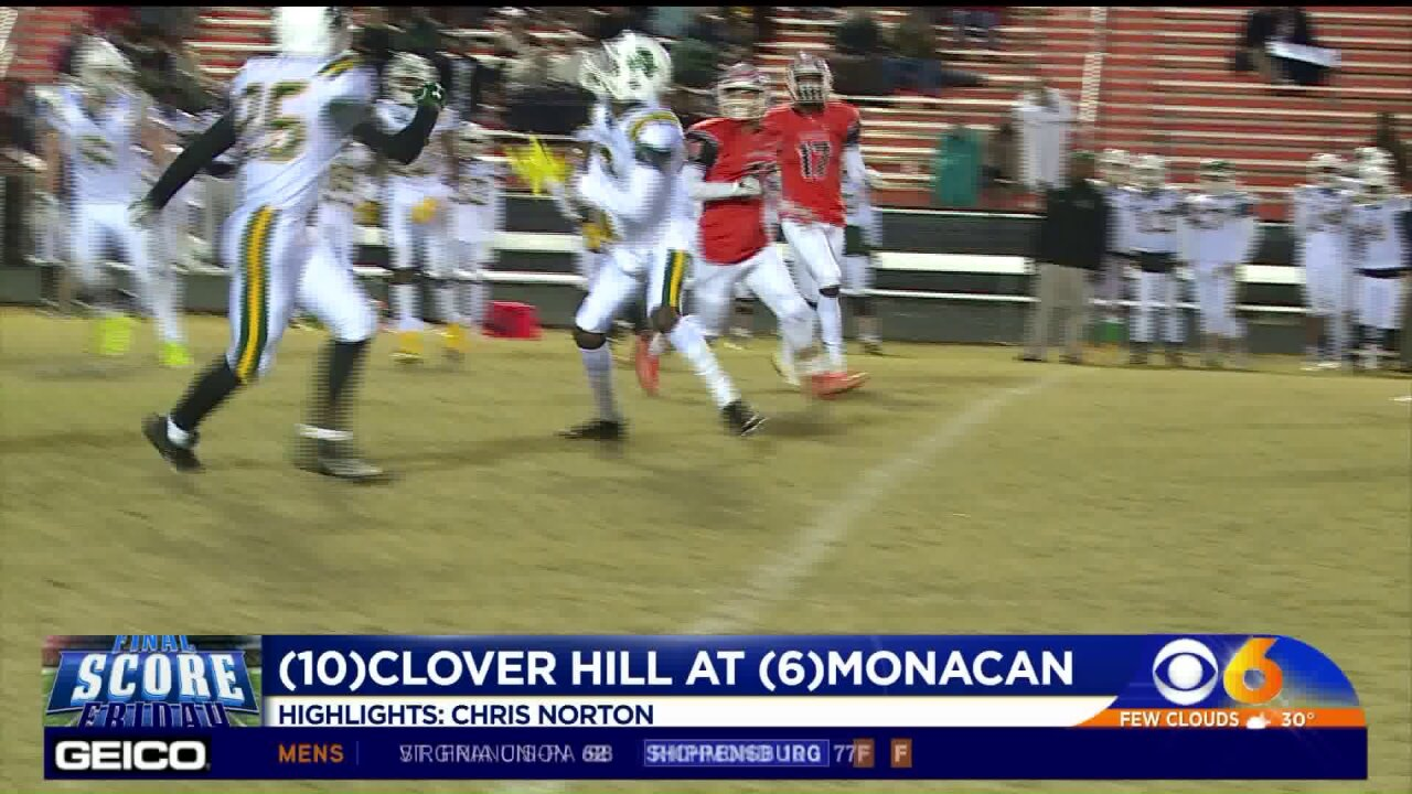 Clover Hill tops Monacan to snap seven-year losing skid toChiefs