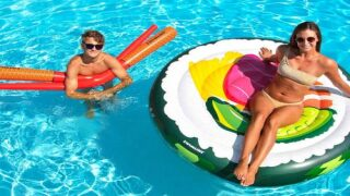 This Sushi Pool Float Comes With Its Own Inflatable Chopsticks