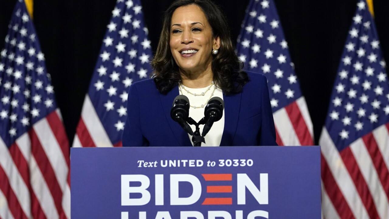 Democratic presidential candidate former Vice President Joe Biden and his running mate Sen. Kamala Harris, D-Calif