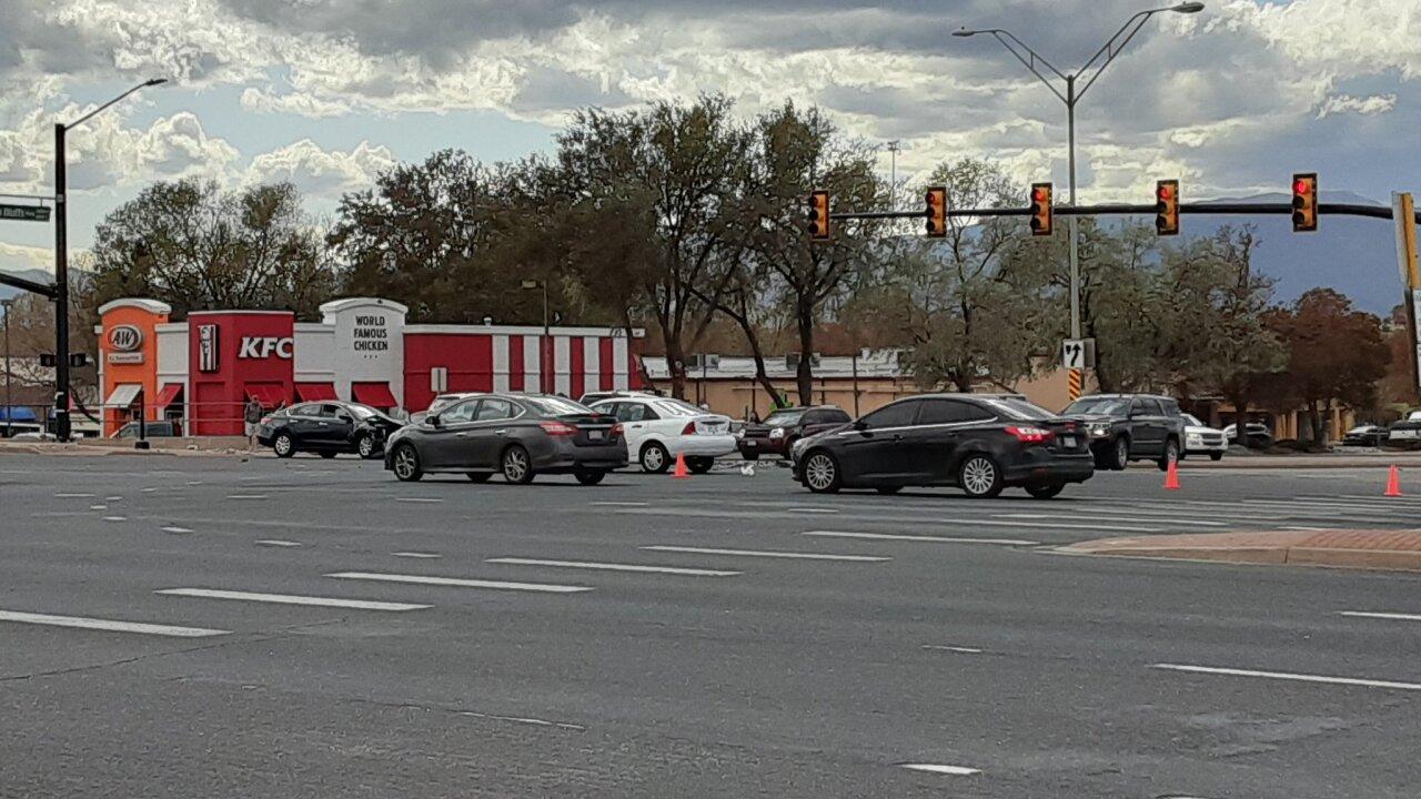 Crash at Austin Bluffs at Barnes Rd