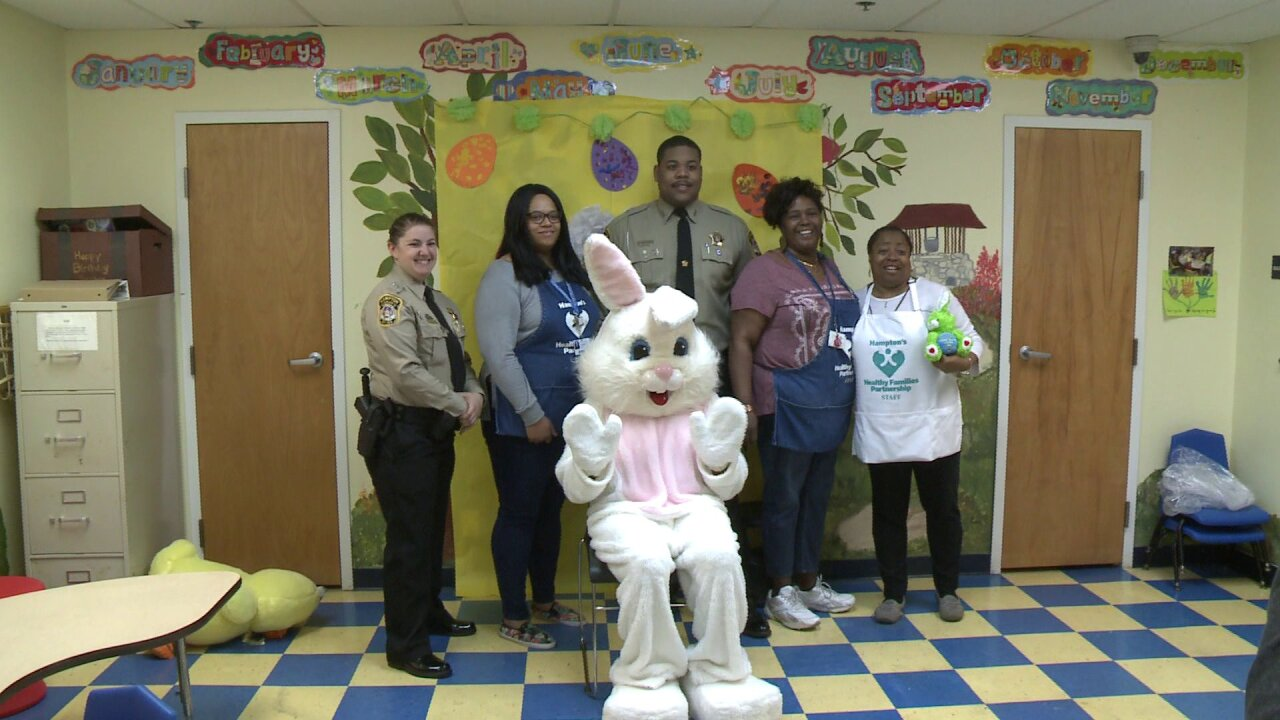 Hampton deputies escort Easter Bunny to visit children at local nonprofit