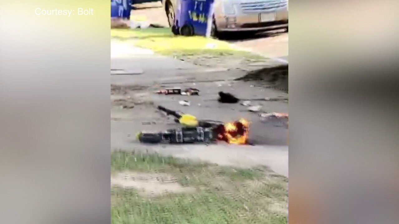 People are cutting Bolt Scooters in half and setting them on fire: 'It's dangerous'