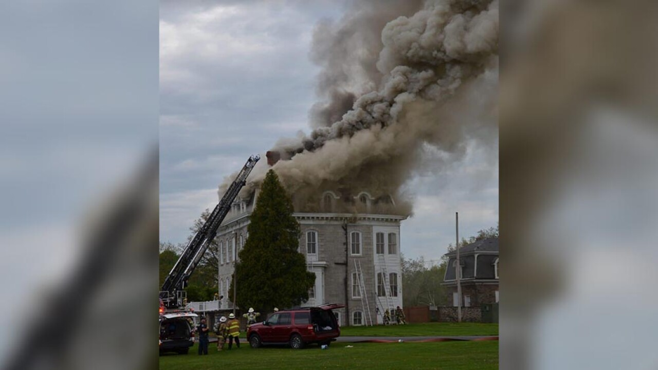Old Mansion fire Creswell Road