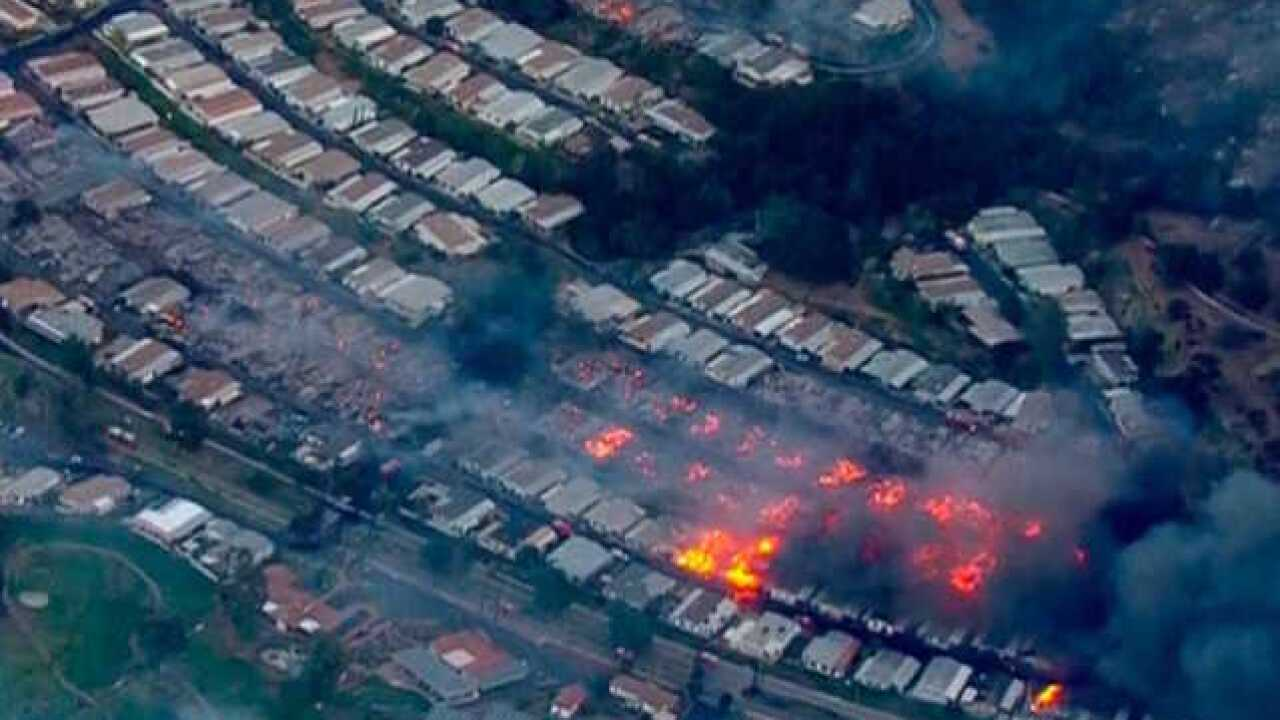 California wildfires: 20 homes burned in San Diego retirement community