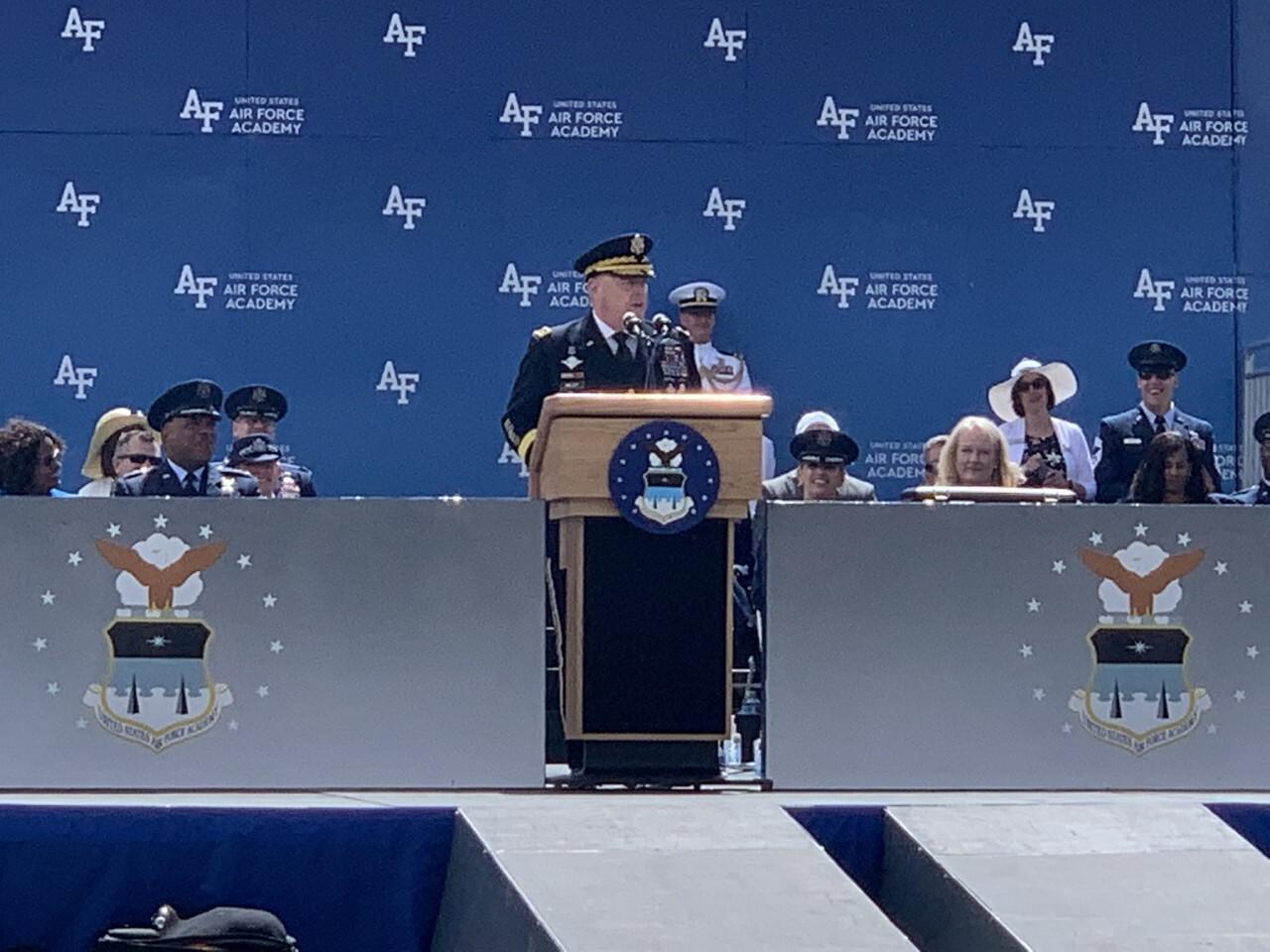 Gen. Milley making commencement address