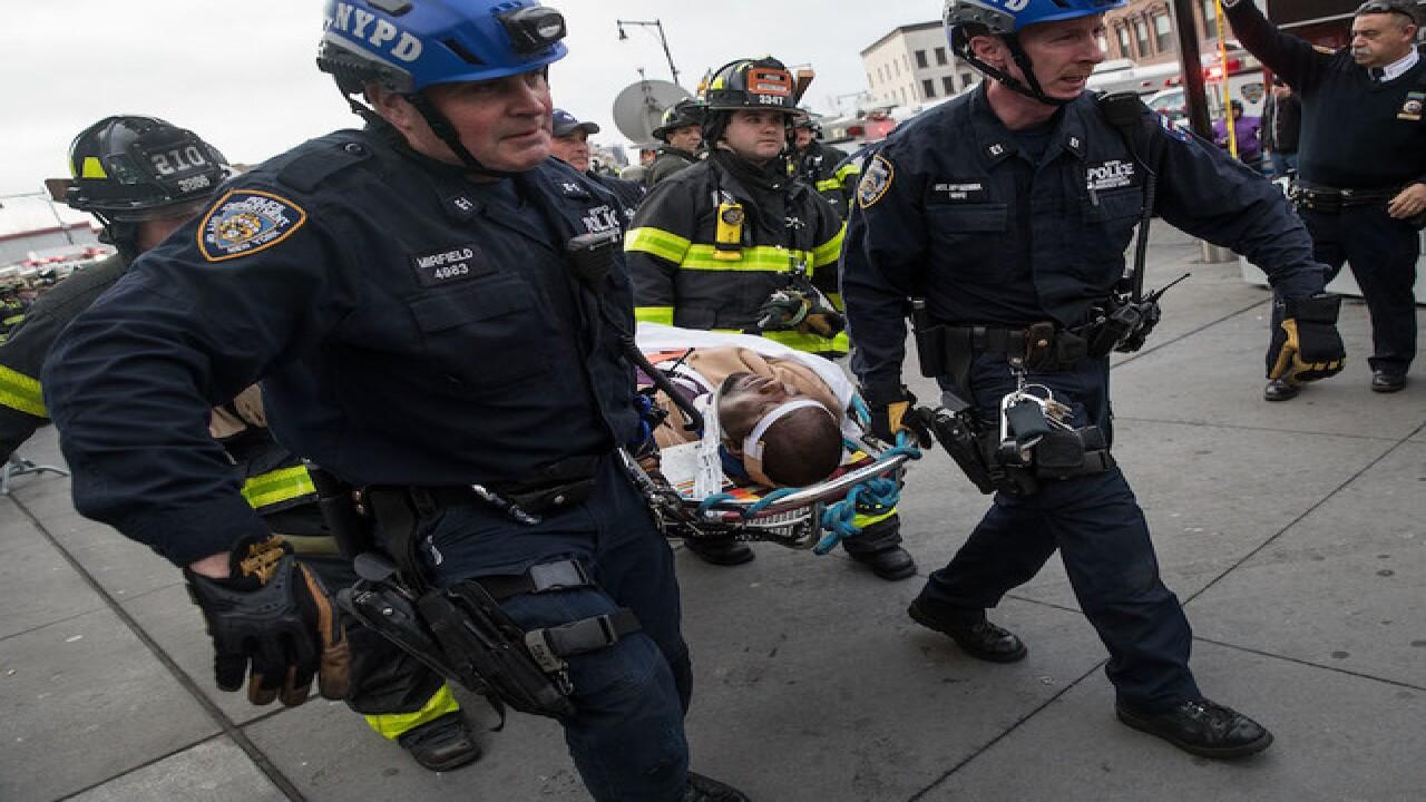 NYFD: At least 18 hurt after train derails