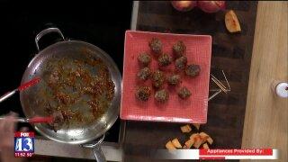 Peach Glazed Meatballs