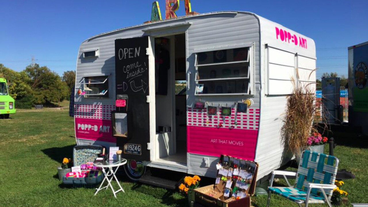 Seen the trailer? Artists' camper goes mobile