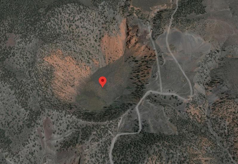 Dotsero volcano Google Maps