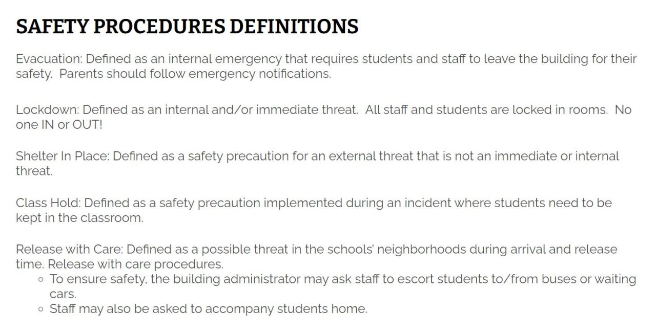 GFPS SAFETY PROCEDURES DEFINITIONS