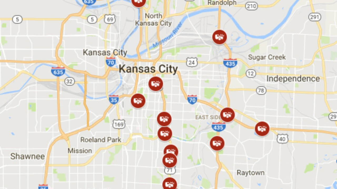 KCPD identifies 'high crash locations' in KCMO