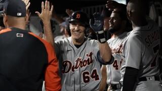 Dustin Garneau Tigers Reds Baseball