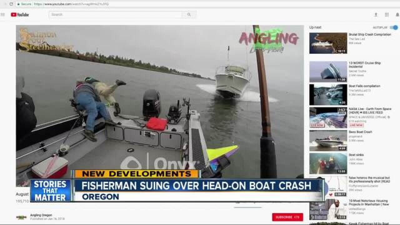 Viral video of boat crash in Oregon leads to lawsuit