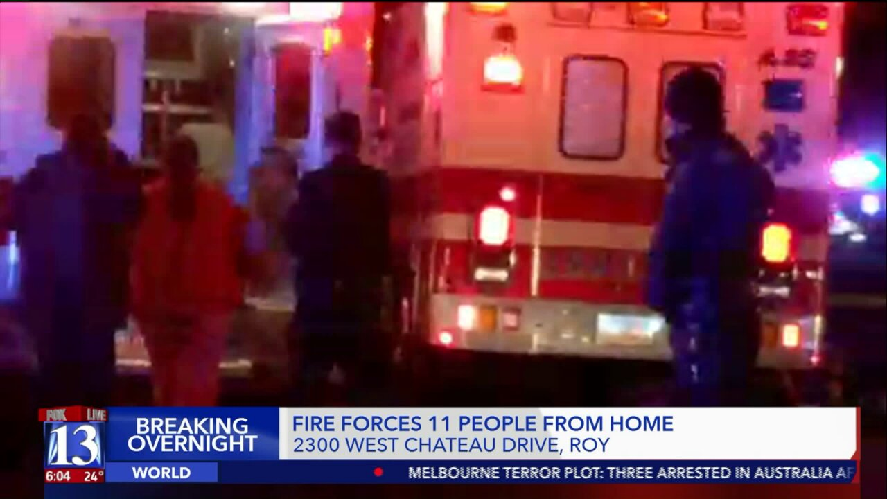 Eleven rescued from fourplex fire in Roy, all treated for smokeinhalation