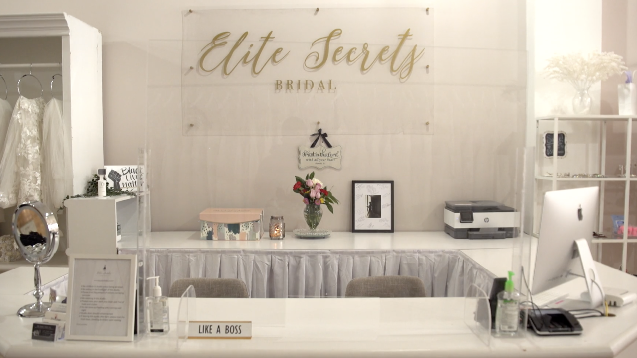 At Elite Secrets Bridal, a small business in Baltimore, the impact of COVID-19 was profound. The pandemic caused weddings to be canceled and, in turn, the demand for wedding dresses plummeted.