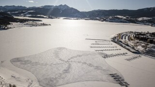Massive snow drawings