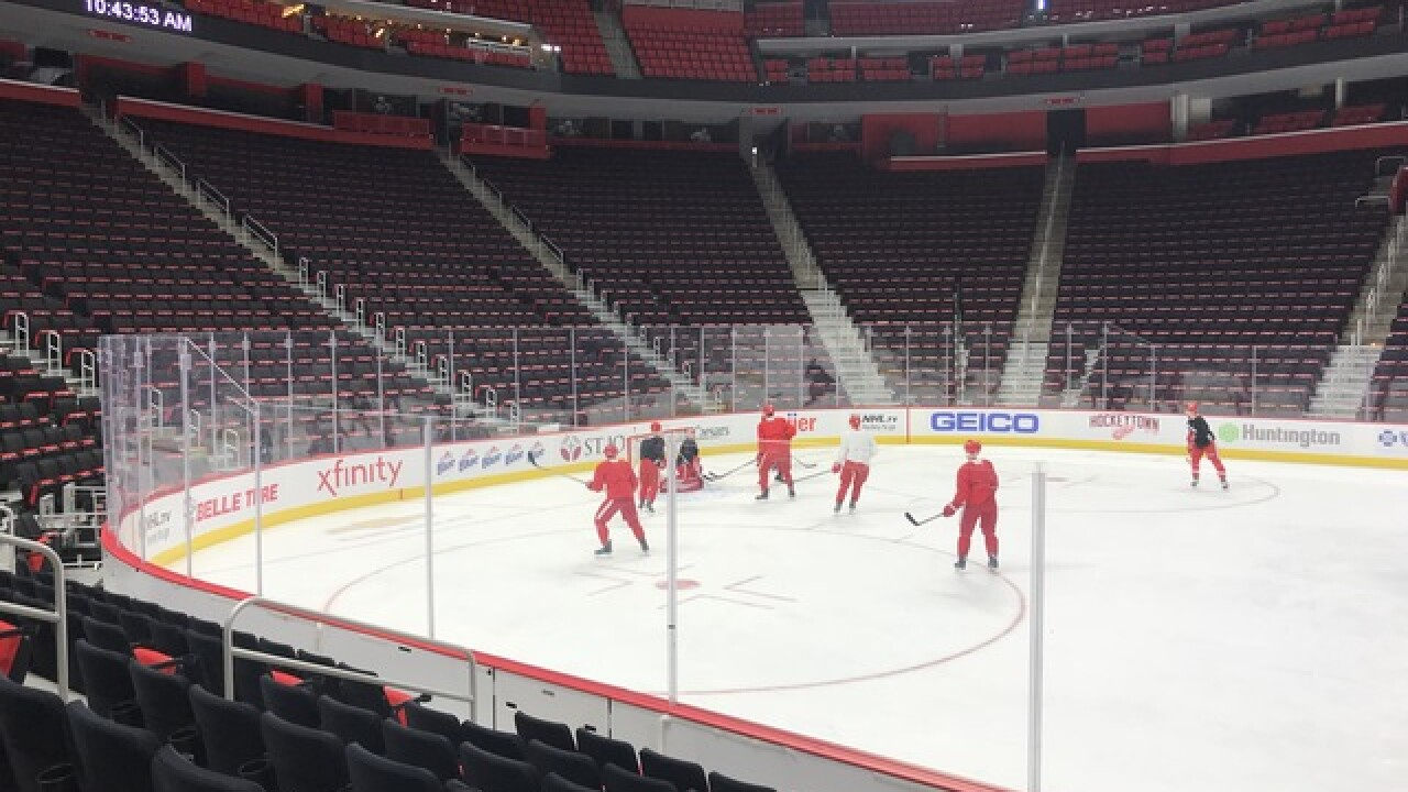See 'em: Red Wings have black seat covers at Little Caesars Arena