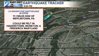 3.4 Magnitude Earthquake