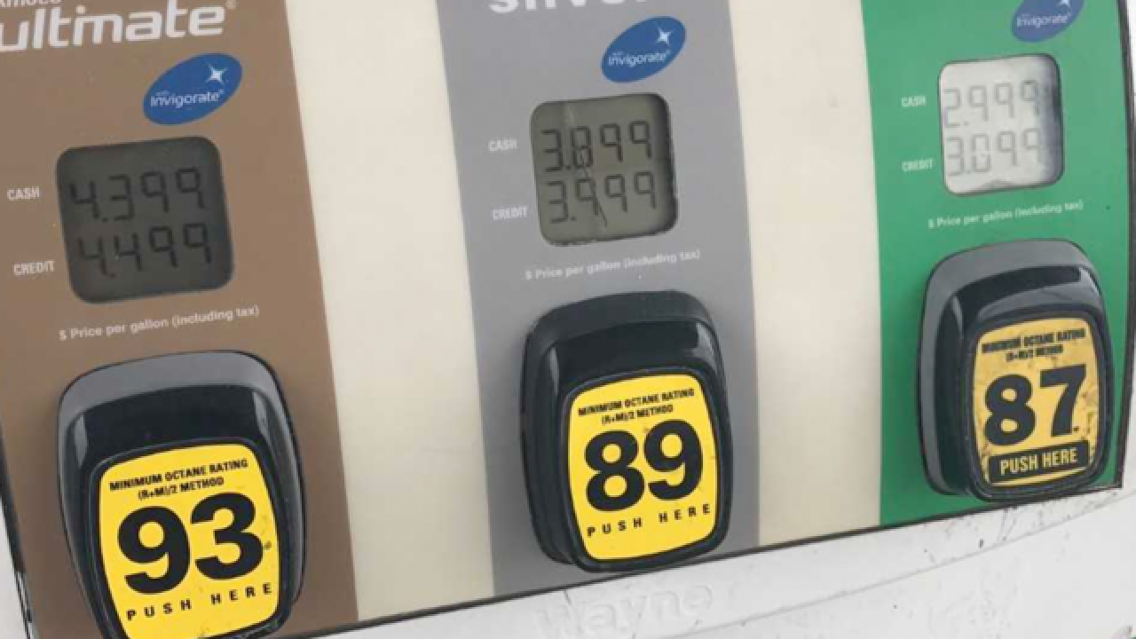 Gas prices 54 cents higher than last Memorial Day weekend