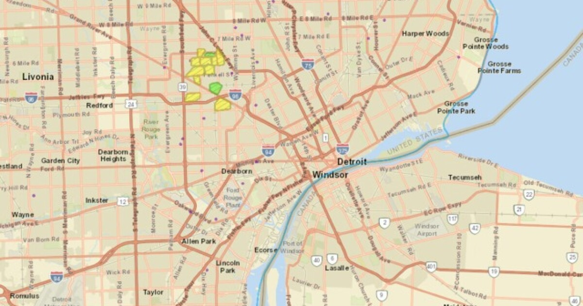 DTE power outage in northwest Detroit caused by equipment issue