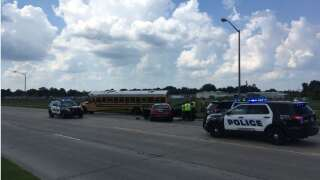 School bus crash reported on Willow Street in Lafayette